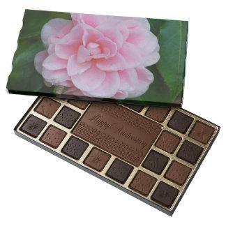 Flowering Pink Camelia 45 Piece Box Of Chocolates