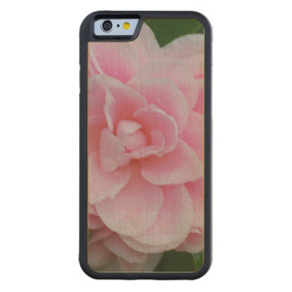 Flowering Pink Camelia Carved Maple iPhone 6 Bumper Case