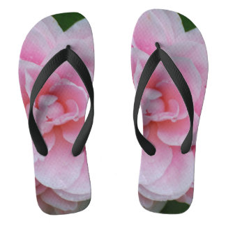 Flowering Pink Camelia Flip Flops