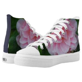 Flowering Pink Camelia High-Top Sneakers