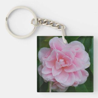 Flowering Pink Camelia Keychain
