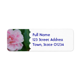 Flowering Pink Camelia Label