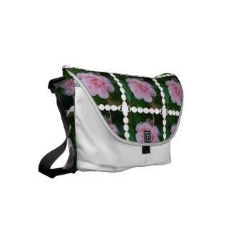 Flowering Pink Camelia Small Messenger Bag