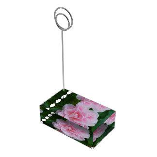 Flowering Pink Camelia Table Number Holder