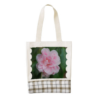 Flowering Pink Camelia Zazzle HEART Tote Bag
