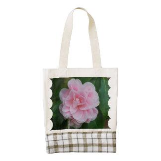 Flowering Pink Camelia Zazzle HEART Tote Bag