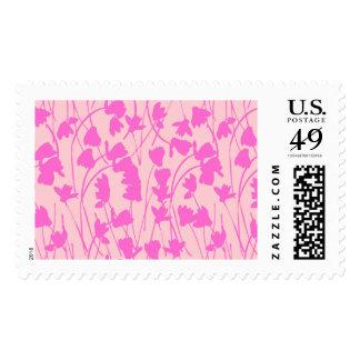 Flowering Pink Cyclamen - Postal Stamp
