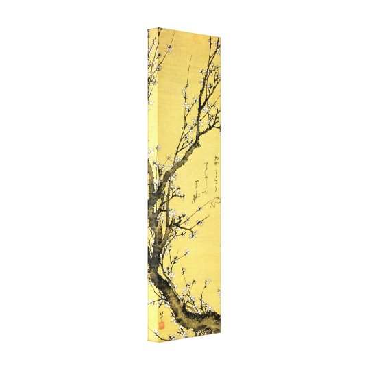 Flowering plum by Hokusai Canvas Print