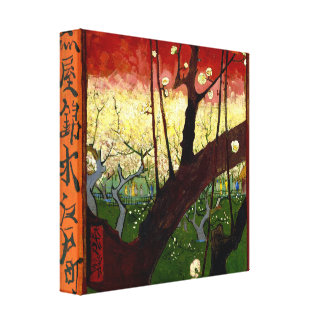 Flowering Plum Tree after Hiroshige by Van Gogh Canvas Prints