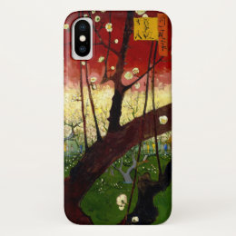 Flowering Plum Tree after Hiroshige by Van Gogh iPhone X Case