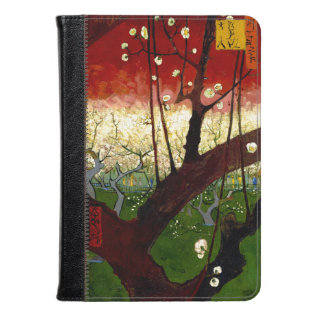 Flowering Plum Tree After Hiroshige By Van Gogh Kindle Case at Zazzle