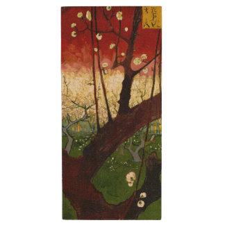 Flowering Plum Tree After Hiroshige by Van Gogh Wood USB 2.0 Flash Drive
