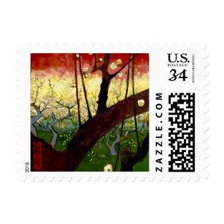 Flowering Plum Tree after Hiroshige by Van Gogh Postage
