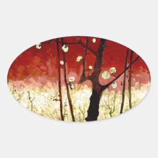 Flowering Plum Tree after Hiroshige by Van Gogh Stickers
