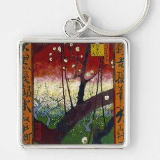 Flowering Plum Tree (after Hiroshige) Van Gogh Keychain