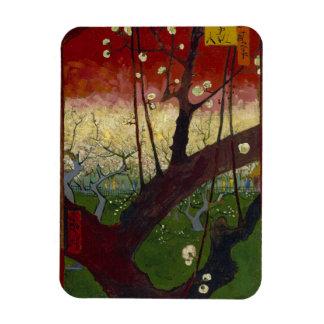 Flowering Plum Tree by Vincent Van Gogh Magnet