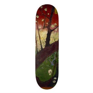 Flowering Plum Tree by Vincent Van Gogh Skateboard