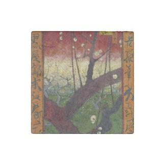 Flowering Plum Tree by Vincent Van Gogh Stone Magnet