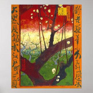Flowering Plum Tree (Hiroshige) Van Gogh Fine Art Poster