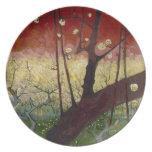 Flowering plum tree Plate