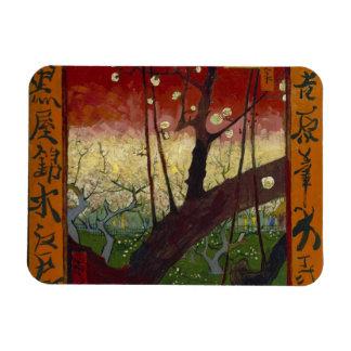 Flowering plum tree Premium Magnet