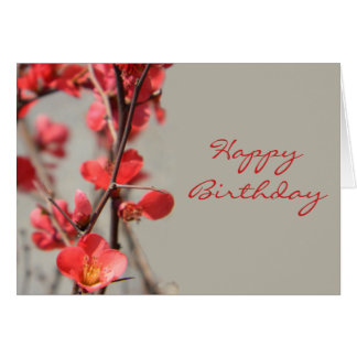 Flowering Quince Birthday Card