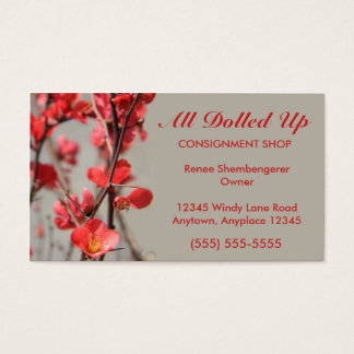 Flowering Quince Business Card