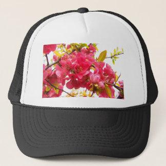 Flowering Quince Japan Pink Spring Flowers Shrub Trucker Hat
