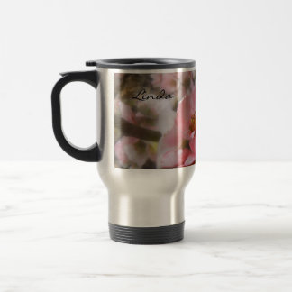 Flowering Quince Personalized 15 Oz Stainless Steel Travel Mug