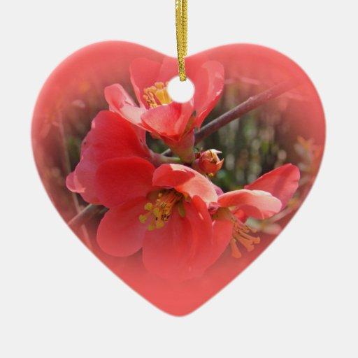 Flowering Quince Tree Ceramic Ornament