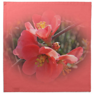Flowering Quince Tree Cloth Napkin