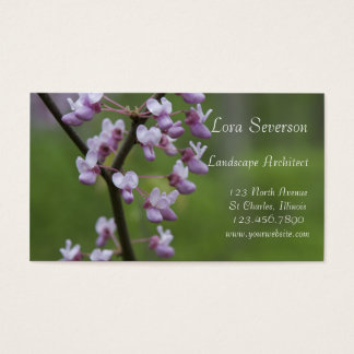 Flowering Red Bud Tree Landscape Architect Business Card