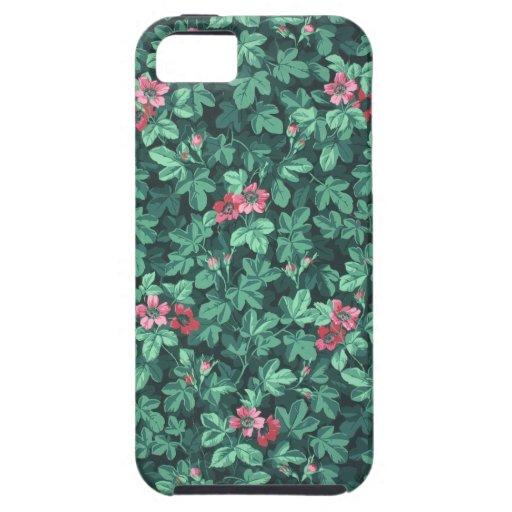 Flowering rose bush wallpaper, 1865-1875 iPhone 5 cases