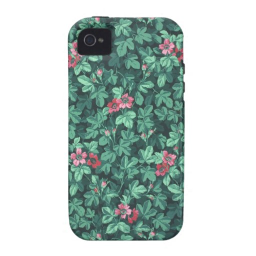 Flowering rose bush wallpaper, 1865-1875 iPhone 4/4S case