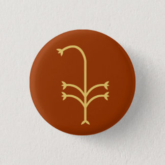 Flowering Sedge Pinback Button