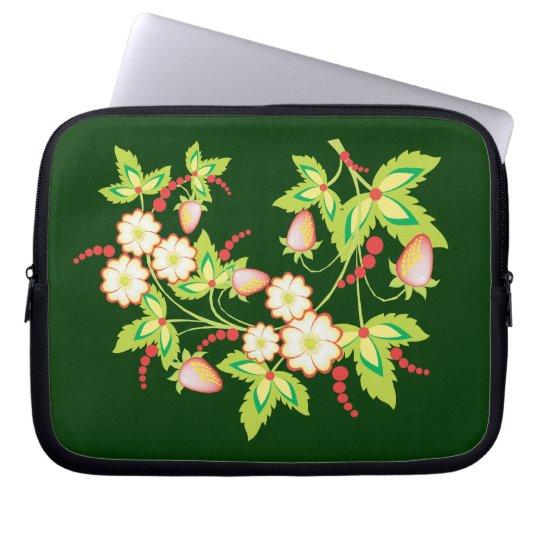 Flowering Strawberry Laptop Sleeve
