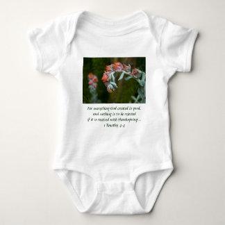 Flowering Succulent Baby Bodysuit