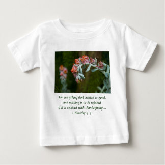 Flowering Succulent Baby T-Shirt