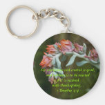 Flowering Succulent Key Chains