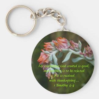 Flowering Succulent Keychain