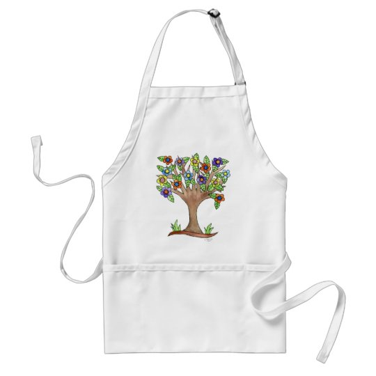 Flowering Tree Adult Apron