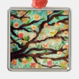 Flowering tree holiday ornament
