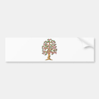 Flowering Tree with Pink Blossoms Bumper Sticker