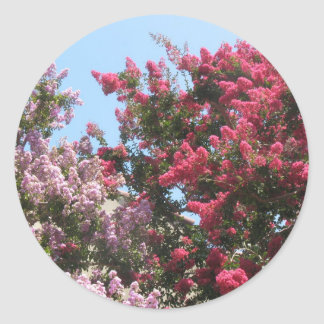 flowering trees classic round sticker