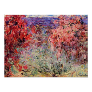 Flowering Trees near the Coast Poster