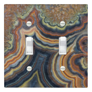 Flowering tube onyx light switch cover
