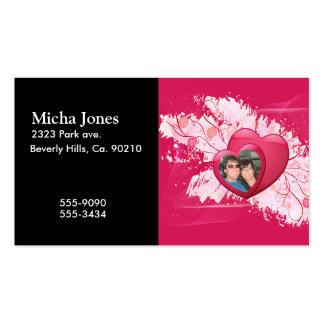 Flowering Two Hearts As One Add Your Photo Business Card