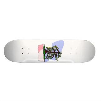 Flowering Upright Bonsai Yellow in pink pot Custom Skate Board