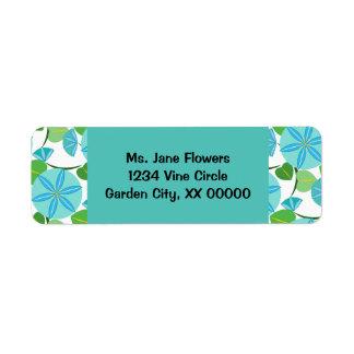 Flowering Vine Abstract Retro Label