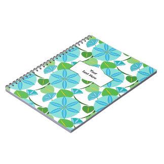 Flowering Vine Abstract Retro Notebook